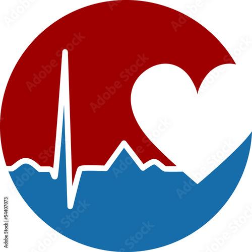 Icon Herz Medizin Logo