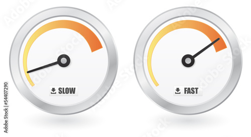 download button - speedometer