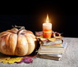 Pumpkin and books