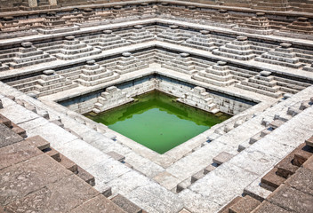 Stepped tank in Hampi