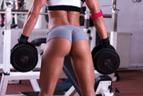 Very sexy young beautiful ass in thong at gym club