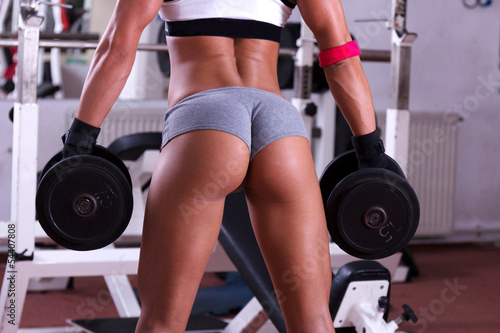 Very sexy young beautiful ass in thong at gym club - 54407808