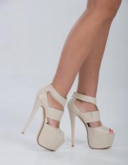 Pretty in platform leather heels