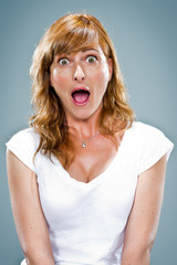 Young Woman with Surprise Expression