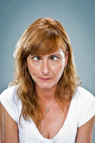Young Woman with Funny Expression