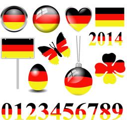 Deutschland Symbole Set