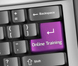"Keyboard Illustration ""Online Training"""