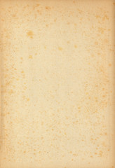 Old Yellowed Paper with Spots