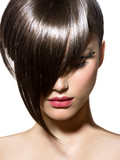Fototapety Fashion Haircut. Hairstyle. Stylish Fringe