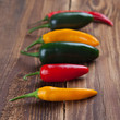 Group of colorful chili