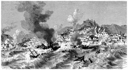 Earthquake & Tsunami - 18th century