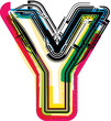 Colorful Grunge LETTER Y