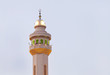 Beautiful Minarets of Al Fateh Mosque of Bahrain in evening time