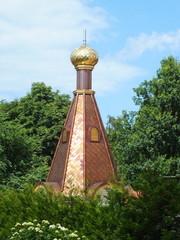 Unfinished onion dome of orthodox church (Riga, Latvia)