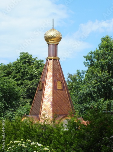 Unfinished onion dome of orthodox church (Riga, Latvia)