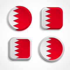 Bahrain flag buttons