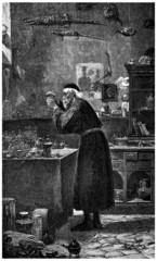 Medieval Alchemist - 15th century