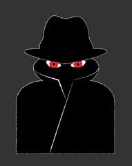 Hacker cyber icon