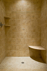 Custom Tiled Stand Up Shower