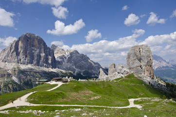 Peaks of five towers (Dolomites)