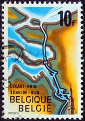 Rhine-Scheldt Canal map (Belgium 1975)