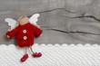 Schutzengel in Rot  - Glückwünsche Weihnachten oder Geburtstag