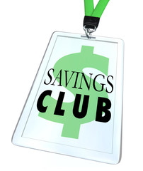 Savings Club Badge ID Card Special Discount Save More