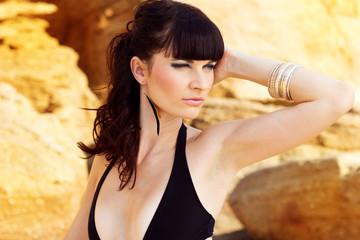 Beautiful girl on beach