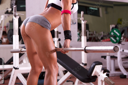Very sexy young beautiful ass in thong at the gym club