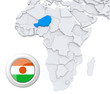 Niger on Africa map