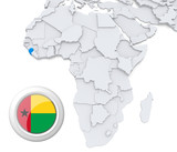 Guinea-Bissau on Africa map