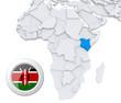 Kenya on Africa map