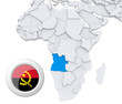 Angola on Africa map
