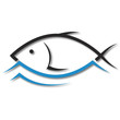 fish emblem design for business