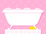 Vintage style bathtub with soapy bubbles