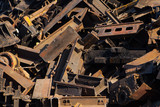 scrap metal, close-up view