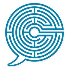 Speech bubble labyrinth puzzle