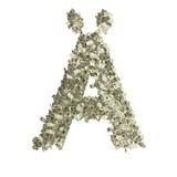 Buchstabe Ä gebildet aus Dollar Banknoten