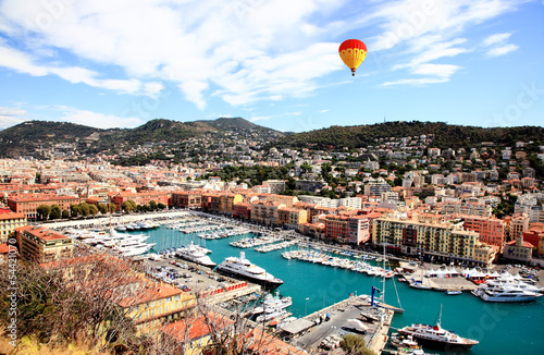 aerial view of the city of Nice France