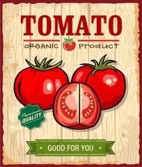 Vintage Retro Tomato Poster Design
