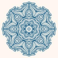 round blue pattern