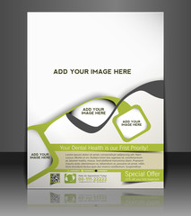 Vector dental brochure, flyer, magazine cover
