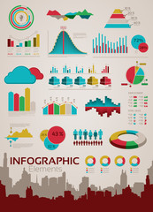 Infographics elements and statistics
