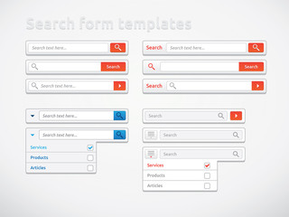 Search form templates and designs