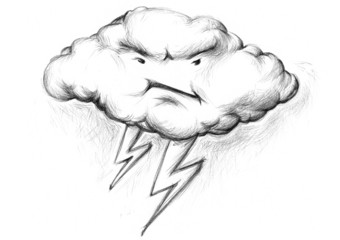 Gewitterwolke mit schlechter Laune