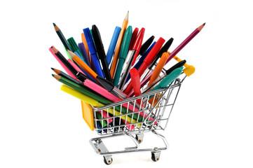 Achat de stylos, crayons et feutres