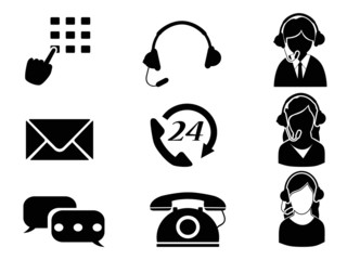 customer service icon set