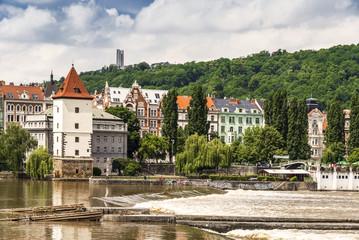 Moldau und Ufer