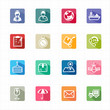 Flat icons delivery logistic shipping and white background