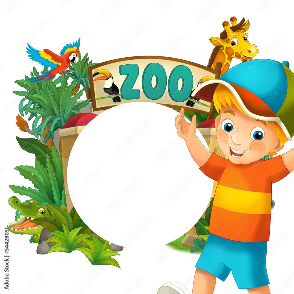Cartoon Zoo And Children Banner Illustration Wall Sticker  : 1000F54428051VhkCcExWnpC6kKoHgvHQ4bzgKfhwPIDl from thestickerstudio.com size 1000 x 1000 jpeg 308kB